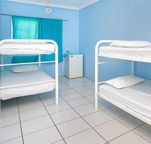 A bunk bed or bunk beds in a room at Caravella Backpackers