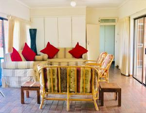 A seating area at St Lucia Holiday Cottage
