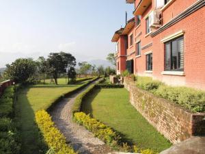 Jardín al aire libre en Planet Bhaktapur Hotel