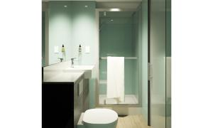 A bathroom at easyHotel Milton Keynes