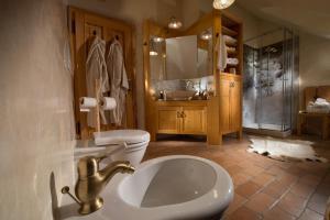 A bathroom at Bio Apartments Trnulja
