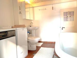 Ein Badezimmer in der Unterkunft Burgweg Ferienwohnung