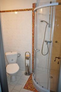 Koupelna v ubytování Hotel Vrchovina