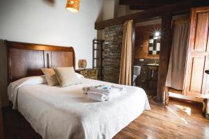 Cama o camas de una habitación en Orgullo Rural