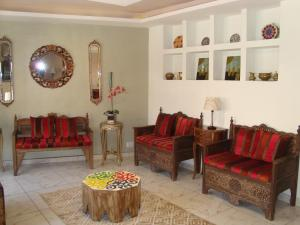 The lobby or reception area at Rafi Hotel
