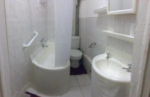 A bathroom at The Justice Suites
