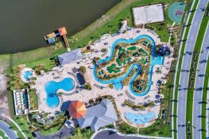 A bird's-eye view of F - New 4 Bedroom Home - 5 Miles to Disney - Free Water Park - Private Pool