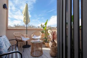 A balcony or terrace at Hotel Oasis