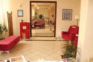 The lobby or reception area at Hili Hotel