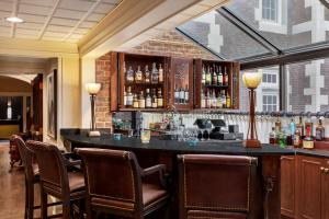 The lounge or bar area at The Glidden House
