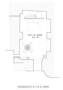 The floor plan of Loft al mare