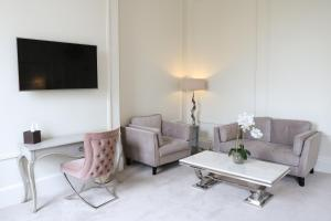 A seating area at Winstanley House