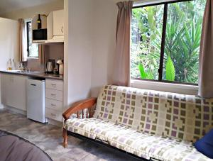 A seating area at Daintree Valley Haven