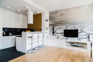 Kuchnia lub aneks kuchenny w obiekcie Apartment4You Select Kolejowa
