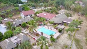 A bird's-eye view of Vaitumu Village