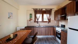 Η κουζίνα ή μικρή κουζίνα στο Fοivos and Athina Villas