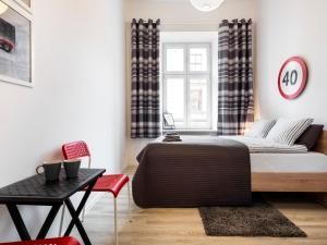 Część wypoczynkowa w obiekcie Noc w Krakowie Apartamenty