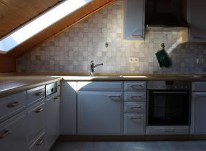 Küche/Küchenzeile in der Unterkunft Buchbergblick Haus Rumpel