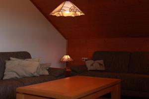 Ein Sitzbereich in der Unterkunft Buchbergblick Haus Rumpel