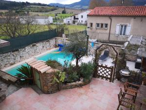 A view of the pool at L'Ours des Corbières or nearby