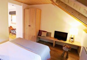 Cama o camas de una habitación en Hotel Lo Paller
