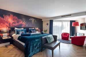 Een zitgedeelte bij Van der Valk Hotel Leiden