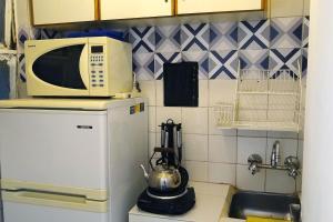 Una cocina o kitchenette en Acogedor studio en Recoleta, la mejor zona en BA