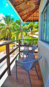 A balcony or terrace at Casa Corvina