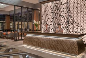 The lobby or reception area at dusitD2 Davao