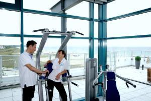 Das Fitnesscenter und/oder die Fitnesseinrichtungen in der Unterkunft Hotel Neptun