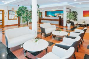 The lounge or bar area at Hotel Ivka