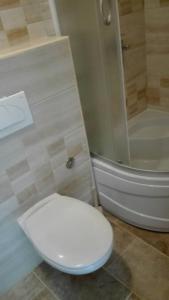 A bathroom at Apartments Delfin