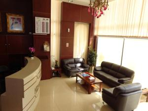 The lobby or reception area at Top Stars Hotel