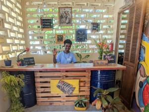 The lobby or reception area at Tamana Hostel