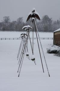 Chambres d'hôtes La Verrerie du Gast during the winter