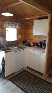 Ett kök eller pentry på Gripenbergs Gårdsbutik