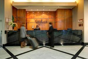 The lobby or reception area at CityLife Auckland