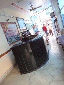The lobby or reception area at Hotel Gajraj Bari