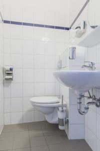 A bathroom at a&o Amsterdam Zuidoost