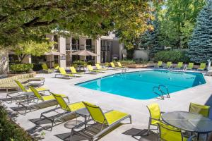 The swimming pool at or near DoubleTree by Hilton Portland
