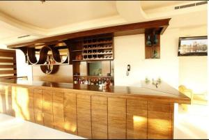 The lounge or bar area at Le Noble
