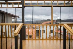A balcony or terrace at MOAF Cusco Boutique Hotel