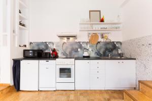 Küche/Küchenzeile in der Unterkunft Charles Bridge Loft