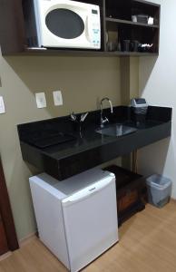 A kitchen or kitchenette at Apt 109 Mont Blanc Apart Hotel