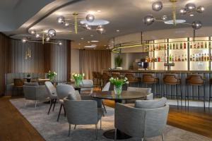 The lounge or bar area at Radisson Blu, Basel