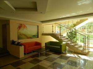 The lobby or reception area at Fala1 Ośrodek Wypoczynkowy