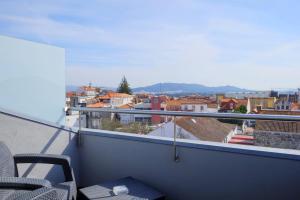 A balcony or terrace at Hotel Laranjeira