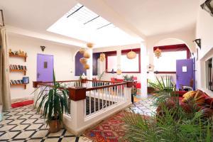 El vestíbulo o zona de recepción de Dar Zerhoune