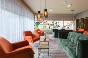 De lobby of receptie bij New West Inn Amsterdam