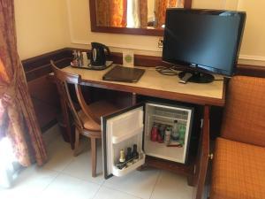 Телевизор и/или развлекательный центр в Hotel Hiberia